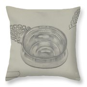 Silver Porringer Throw Pillow