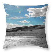 Silver Sand Throw Pillow