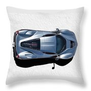 Silver Side Up Throw Pillow