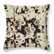 Silver Skull Art Throw Pillow