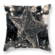 Silver Star Throw Pillow