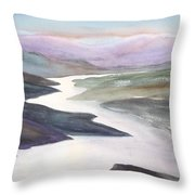 Silver Stream Throw Pillow