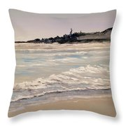 Silver Surf Throw Pillow