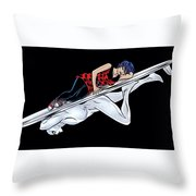 Silver Surfer Throw Pillow