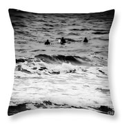 Silver Surfers Throw Pillow
