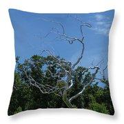 Silver Tree Throw Pillow