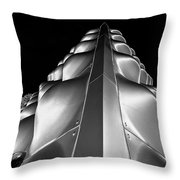 Silver Triangle Throw Pillow