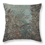 Silver Twilights Throw Pillow