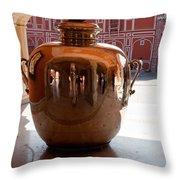 Silver Water Urn Jaipur Throw Pillow