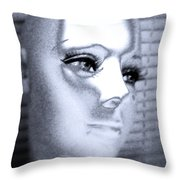 Silver Queen Throw Pillow