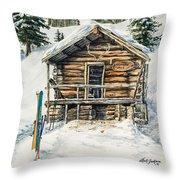 Silvertip Lodge Throw Pillow