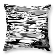 Silvery Water Ripples Throw Pillow