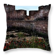 Silves Castle Throw Pillow