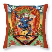 Simhamukha - Lion Face Dakini Throw Pillow
