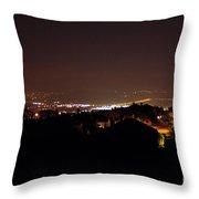 Simi Valley At Night Throw Pillow