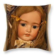 Simon And Halbig Antique Doll Throw Pillow