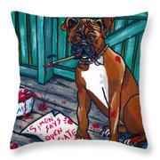 Simon Says Throw Pillow by Laura Brightwood