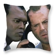 Simon Sez - Die Hard Throw Pillow