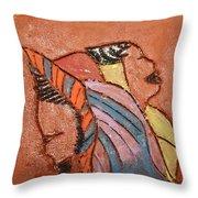 Simona And Martha - Tile Throw Pillow