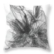 Simple Black And White Abstract Throw Pillow