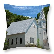 Simple Country Church Throw Pillow