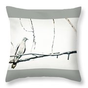 Simple Dove Throw Pillow