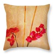 Simple Floral Arrangement  Throw Pillow