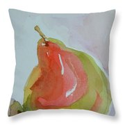 Simple Pear Throw Pillow
