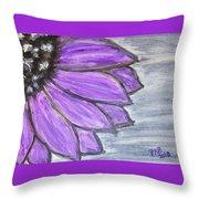 Simple Purple  Throw Pillow