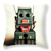 Simple Robot From 1960 Throw Pillow