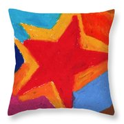 Simple Star-straight Edge Throw Pillow