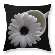 Simple White Daisy Throw Pillow