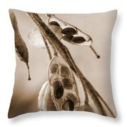 Simplicity In Sepia Throw Pillow