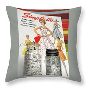 Simplicity Vintage Sewing Pattern - Color Throw Pillow