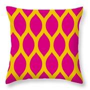 Simplified Latticework With Border In Mustard Throw Pillow
