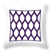Simplified Latticework With Border In Purple Throw Pillow