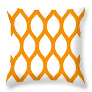 Simplified Latticework With Border In Tangerine Throw Pillow