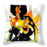 Simplistic Splatter Throw Pillow
