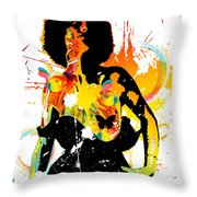 Simplistic Splatter Throw Pillow
