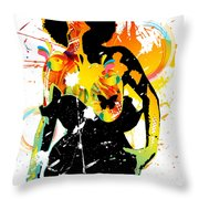 Simplistic Splatter Throw Pillow by Chris Andruskiewicz