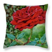 Simply A Rose Throw Pillow