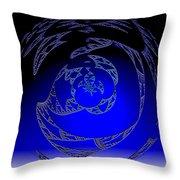 Simply Blue Throw Pillow