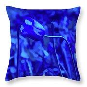 Simply Blue Pink Tulip Throw Pillow