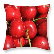 Simply Cherries  Throw Pillow by Carol Groenen