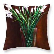 Simply Iris Throw Pillow by Shannon Grissom