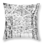 Simply Snowing Throw Pillow