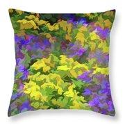 Simply Soft Colorful Garden Throw Pillow