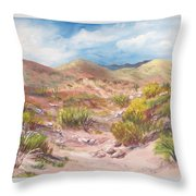 Simply The Desert Throw Pillow by Jean Ann Curry Hess