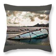 Simpson's Bay Shipwreck Throw Pillow