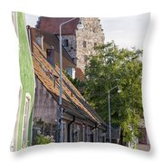 Simrishamn Street Scene Throw Pillow